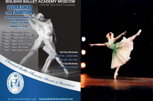 [CANCELLED 取消] 莫斯科大劇院芭蕾舞學院 工作坊/面試 2020 Bolshoi Ballet Academy Moscow Workshop/Audition 2020